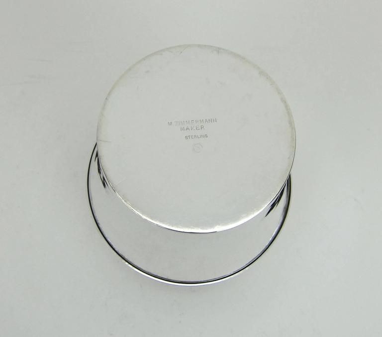 American Art Deco Sterling Silver Box by Marie Zimmermann For Sale 5