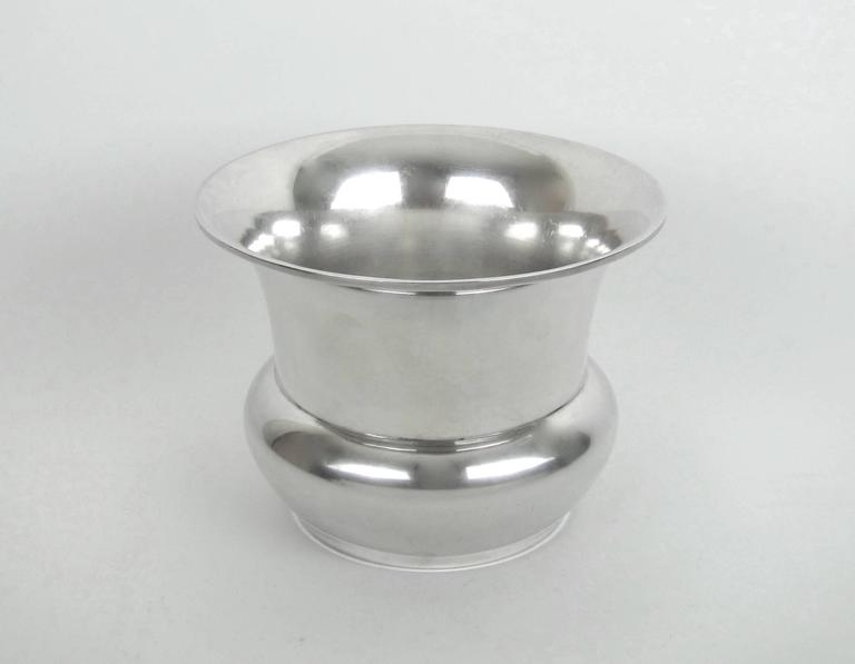 Art Deco Marie Zimmermann American Sterling Silver Vase, circa 1920 For Sale