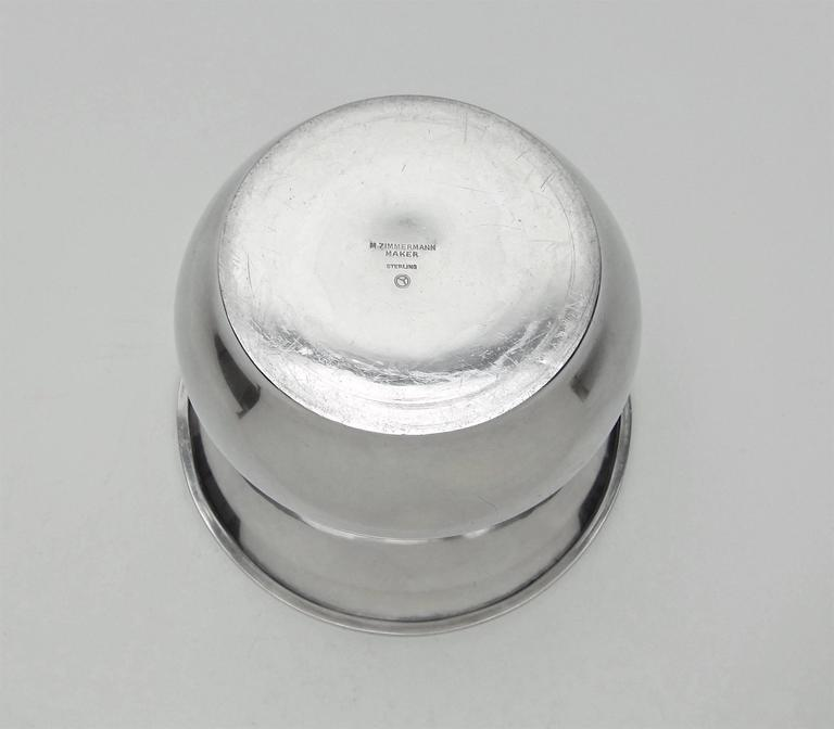 Marie Zimmermann American Sterling Silver Vase, circa 1920 For Sale 2