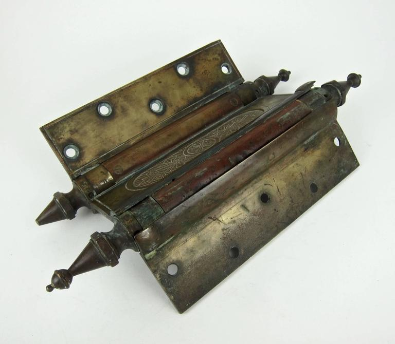 Enormous Antique Eastlake Double Acting Swinging Door Hinge, 1880s 2
