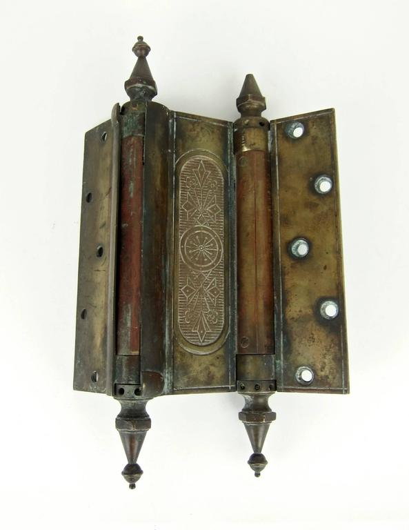 Enormous Eastlake Antique Door Hinge, 1880s For Sale 1 - Enormous Eastlake Antique Door Hinge, 1880s For Sale At 1stdibs