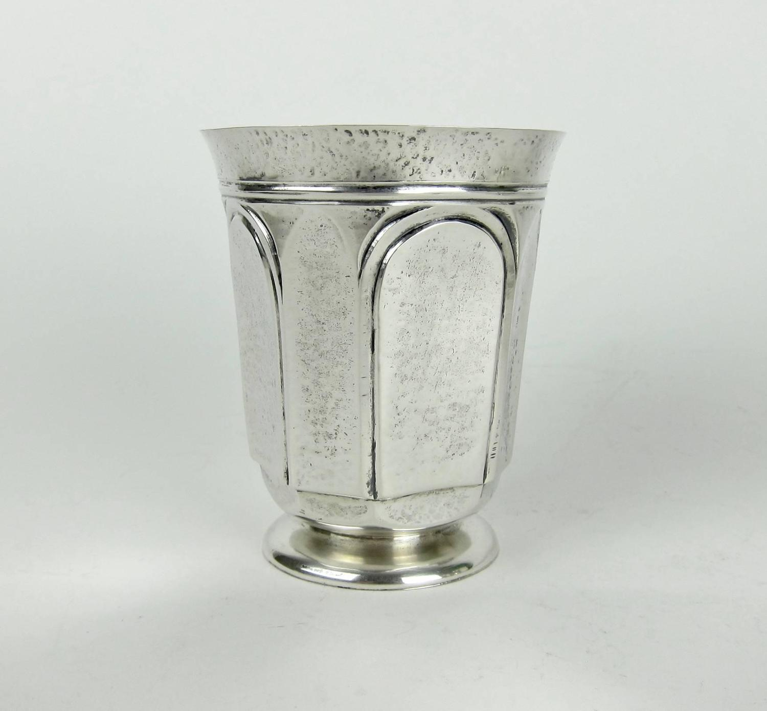 American sterling silver arts and crafts tumblers by marie for The jewelry and metalwork of marie zimmermann