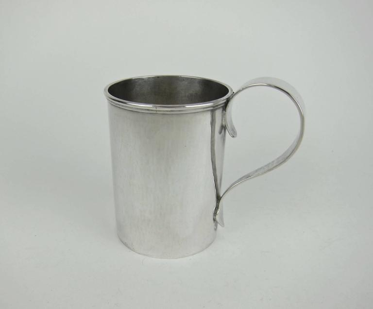 American Sterling Silver Arts & Crafts Cups by Marie Zimmermann In Good Condition For Sale In Los Angeles, CA