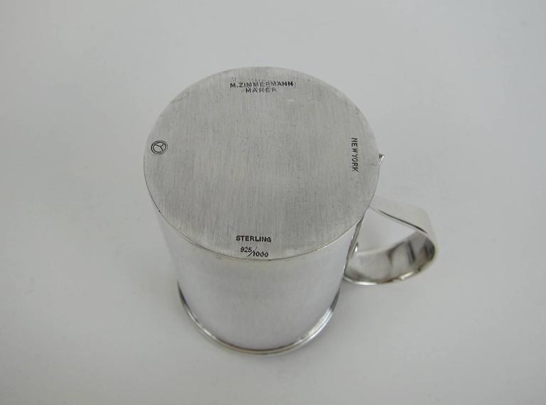American Sterling Silver Arts & Crafts Cups by Marie Zimmermann For Sale 5