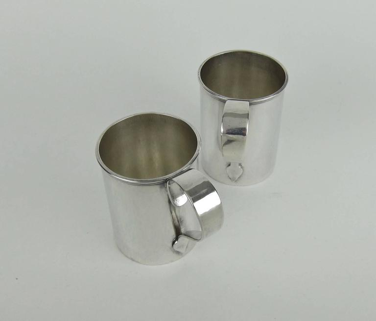 American Sterling Silver Arts & Crafts Cups by Marie Zimmermann For Sale 2