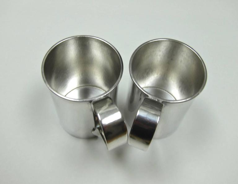 Pair of american sterling silver mugs by marie zimmermann for The jewelry and metalwork of marie zimmermann