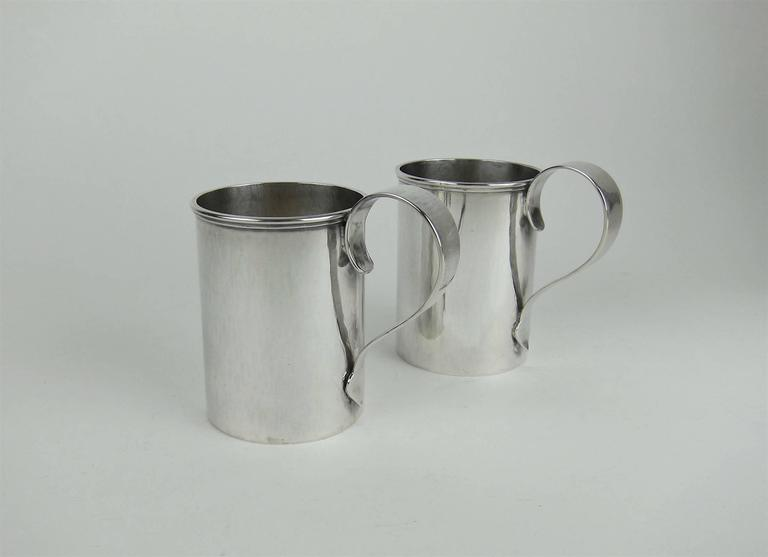 American Sterling Silver Arts & Crafts Cups by Marie Zimmermann For Sale 3