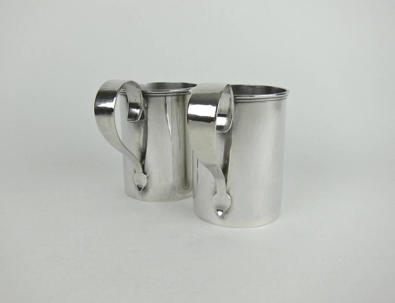 20th Century American Sterling Silver Arts & Crafts Cups by Marie Zimmermann For Sale