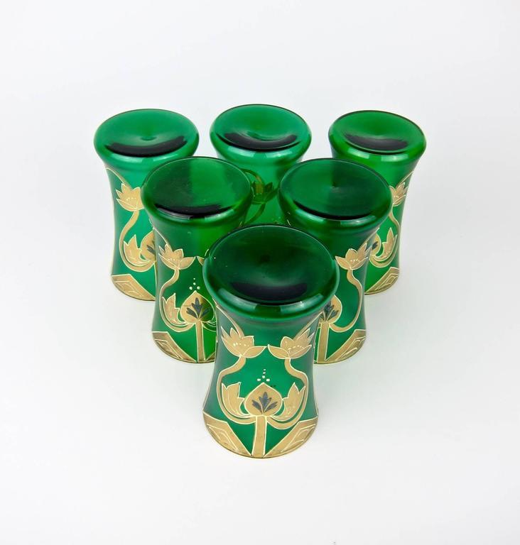 Art Nouveau Drinking Glasses