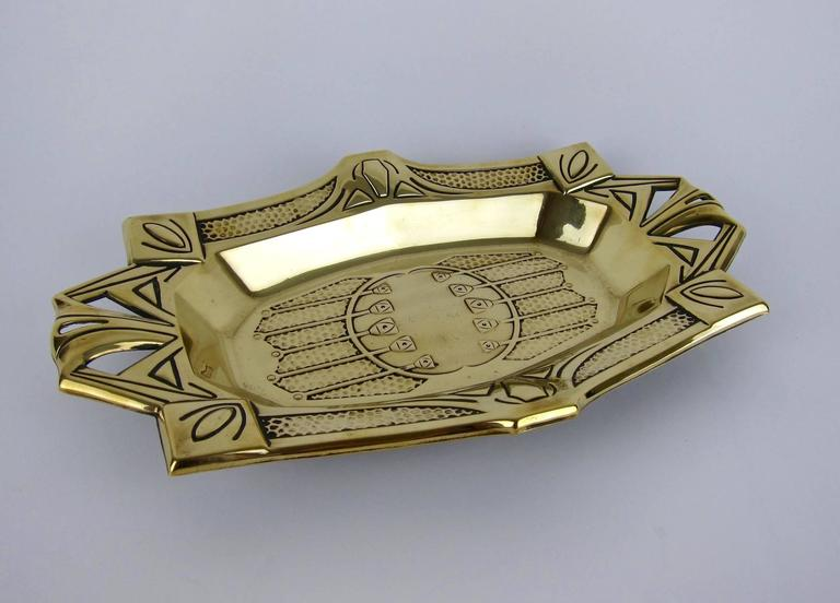 Vienna Secession European Secessionist Cake Basket or Bread Tray For Sale