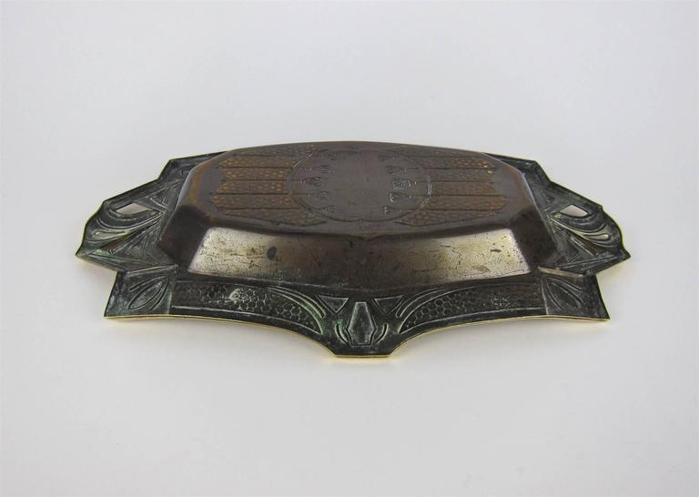 European Secessionist Cake Basket or Bread Tray For Sale 3