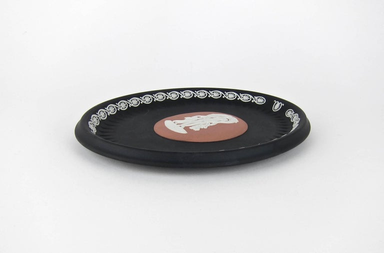 Contemporary Venus and Cupid Oval Tray Signed by Lord Wedgwood For Sale