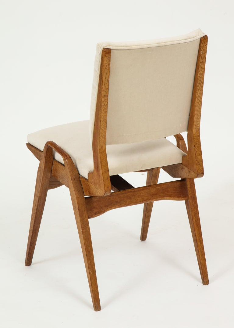 Mid-20th Century Maurice Pre 6 Dining Chairs, Midcentury, France, 1950s For Sale