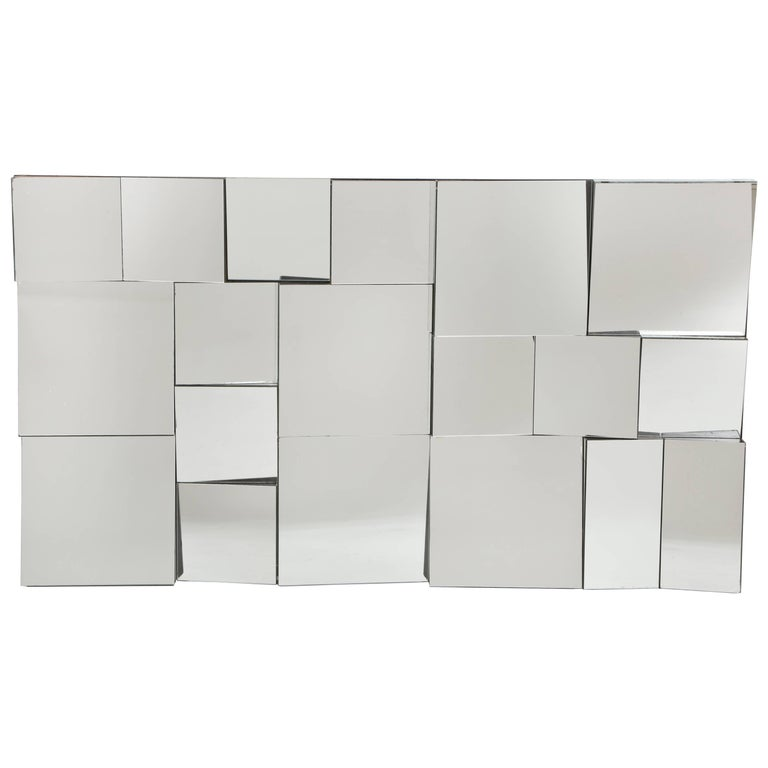 Neal Small Slopes Vintage Wall Mirror, 1970s