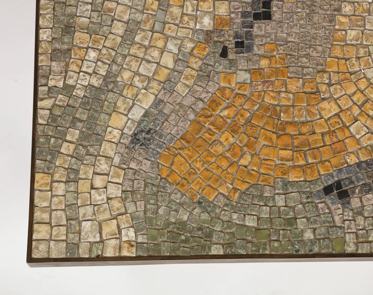 Berthold Muller Mid Century Mosaic Bronze Tile Ceramic