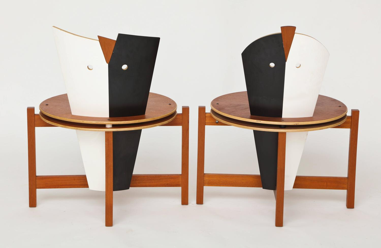 Robert Evanson Post Modern 1980 Chairs Tables Pair ...