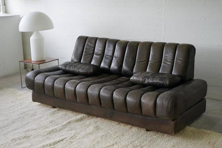 De Sede DS85 Daybed Sofa Couch Loveseat Black Brown Leather 1960 ...