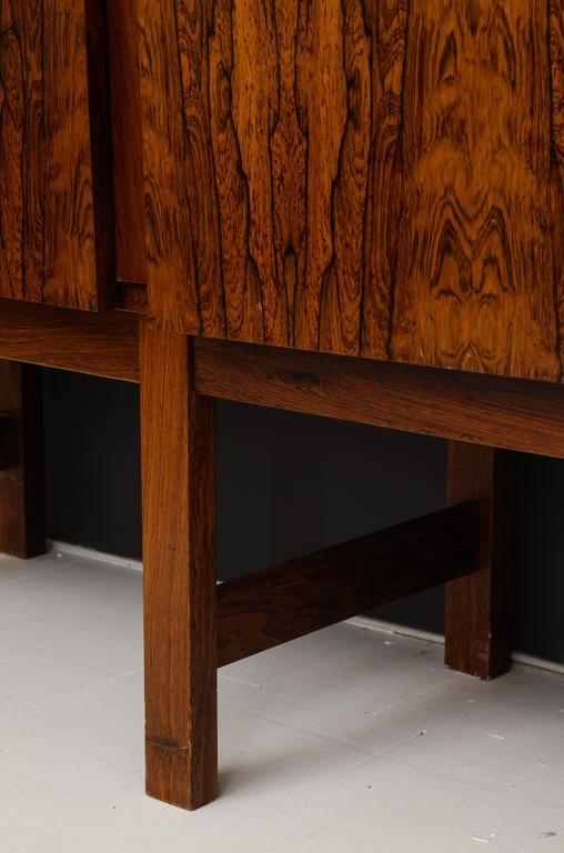Monumental Danish Rosewood Sideboard Highboard Cabinet Midcentury, 1960s For Sale 3
