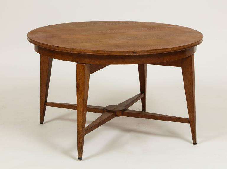 Marcel Gascoin, 1950s Convertible Coffee Center Dining Table Mid Century,  France. Round