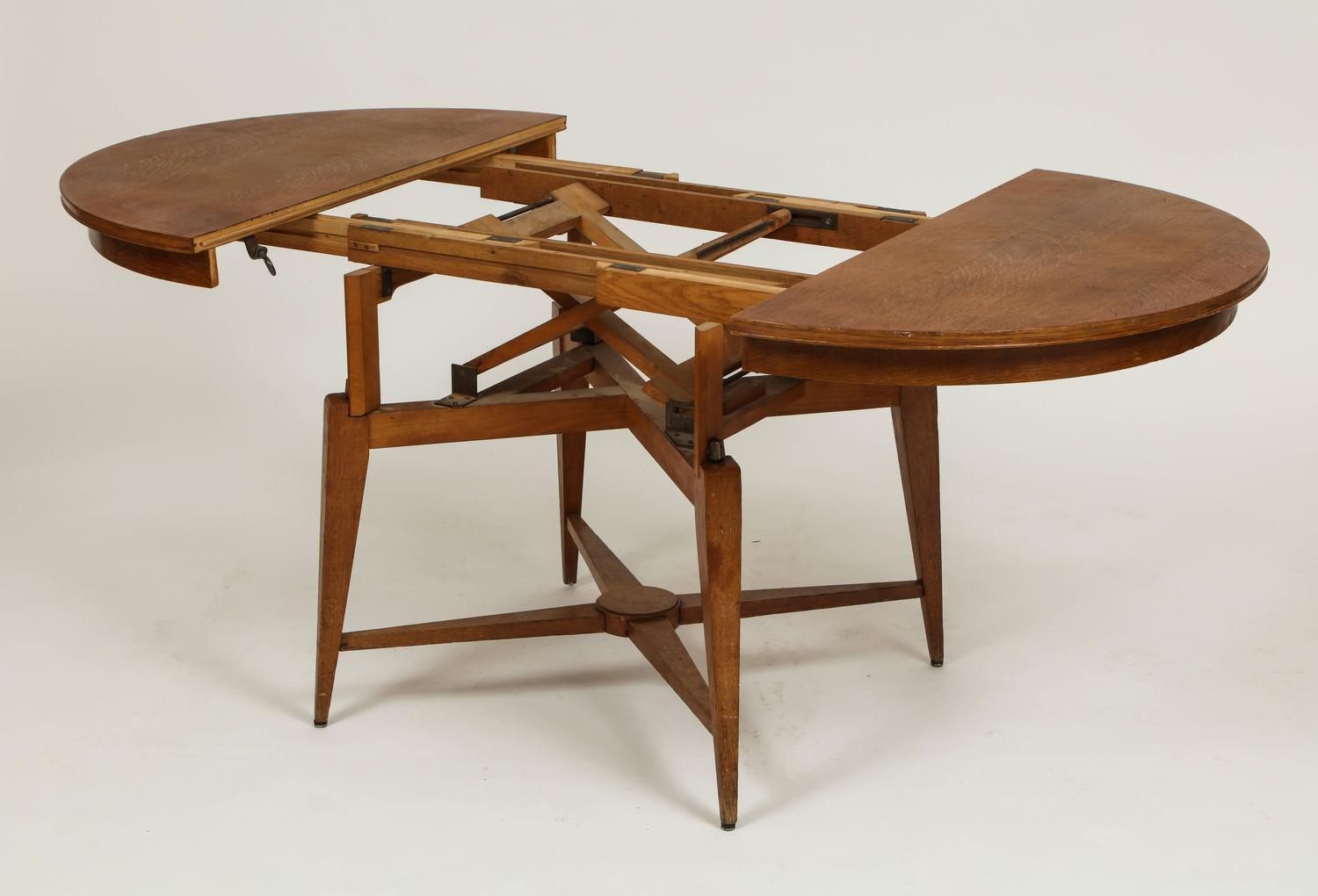 Marcel Gascoin 1950s Convertible Coffee Centre Dining Table Mid Century France For Sale At 1stdibs