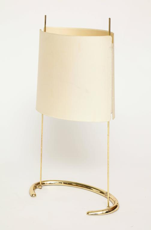 Gala table lamp Arteluce Paolo Rizzatto brass Italian, 1970s.