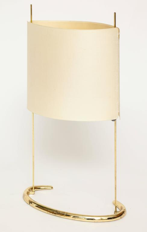 Gala Table Lamp Arteluce Paolo Rizzatto Brass Italian, 1970s In Good Condition For Sale In New York, NY