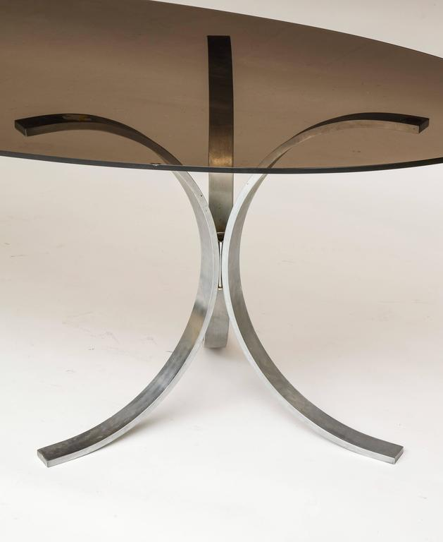 Mid-Century Modern Mid-Century Chrome Dining Table 1970 For Sale
