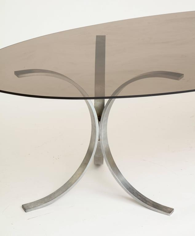 Late 20th Century Mid-Century Chrome Dining Table 1970 For Sale