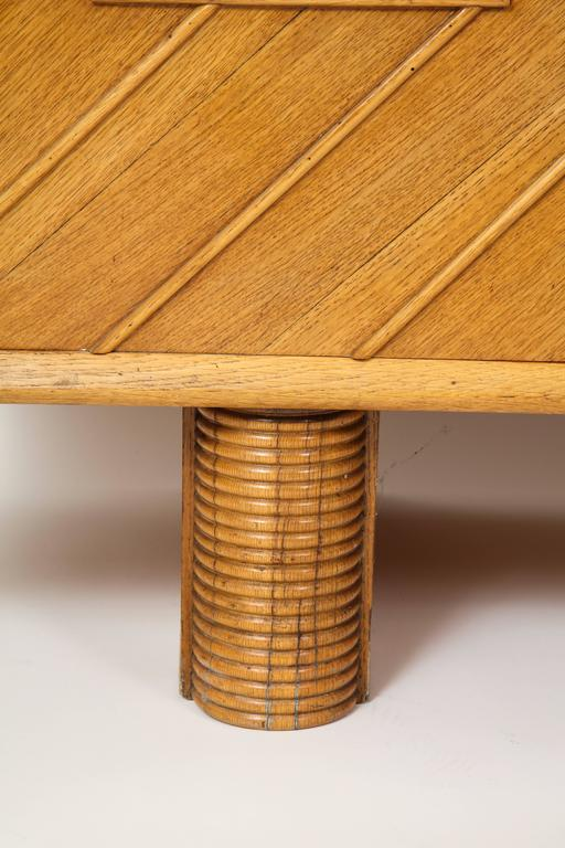 Mid-20th Century Pier Luigi Colli Oak Buffet Sideboard, Mid-Century Modern Italy, 1940s-1950s For Sale