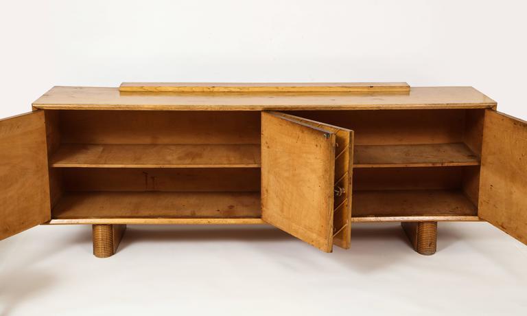 Pier Luigi Colli Oak Buffet Sideboard, Mid-Century Modern Italy, 1940s-1950s For Sale 3