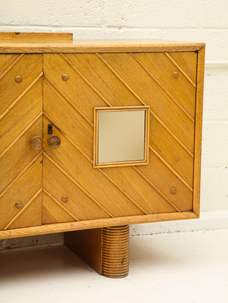 Pier Luigi Colli Oak Buffet Sideboard, Mid-Century Modern Italy, 1940s-1950s In Good Condition For Sale In New York, NY