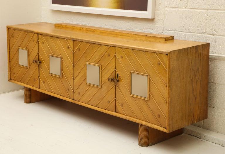 Italian Pier Luigi Colli Oak Buffet Sideboard, Mid-Century Modern Italy, 1940s-1950s For Sale