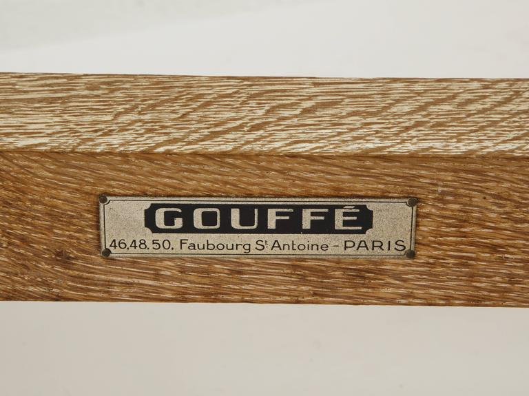 Royere Gouffe Cerused Oak Daybed Deco, France, 1930s-1940s Mid-Century For Sale 1