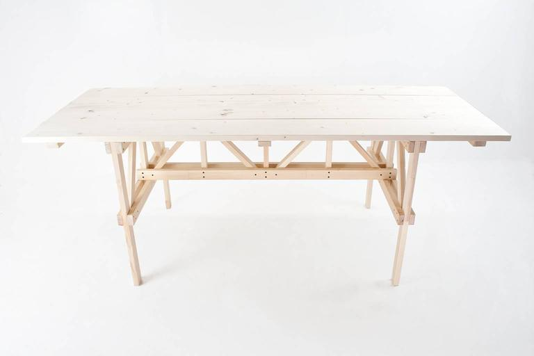 Handcrafted Pinewood Table In Manner Of Enzo Mari, 1974 2
