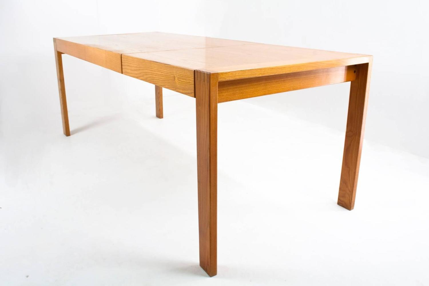 Ash Wood Table ~ Dutch pastoe ash wood dining room table by mazairac