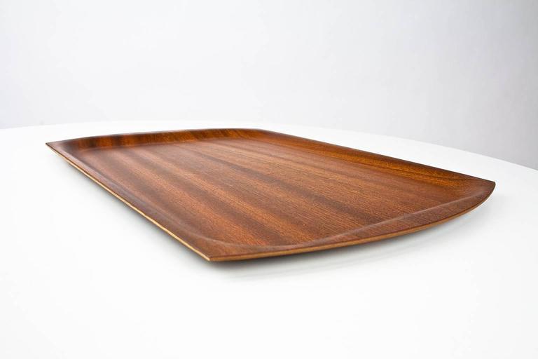 Modern serving tray Teak Scandinavian Modern Serving Trays In Molded Teak The Tray Has Rectangle Design With Slightly 1stdibs 1960s Midcentury Modern Moulded Teak Platter Or Serving Tray At 1stdibs