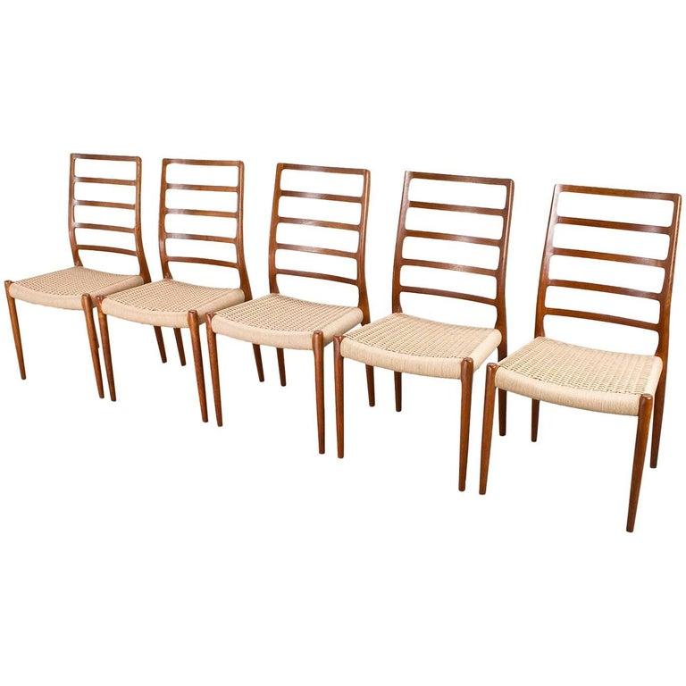 Scandinavian Modern Dining Room Chairs by Nils Moller for J.L. Møller Danish