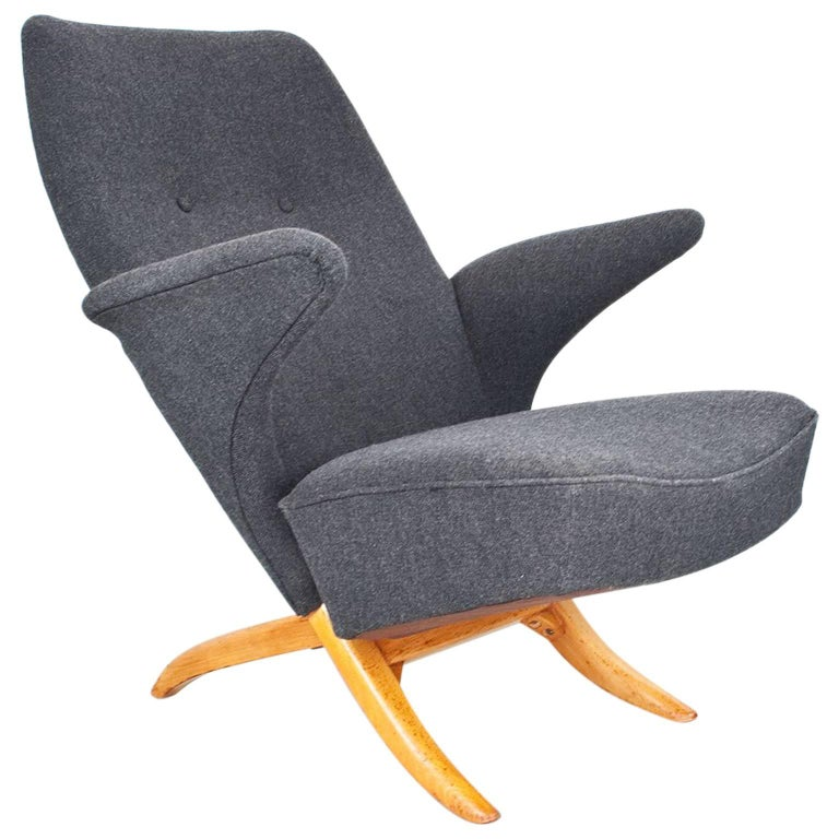 Mid-Century Modern Armchair Model Penguin by Theo Ruth for Artifort, 1957