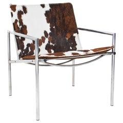 Mid-Century Modern Martin Visser SZ03 Easy Chair in Cow Skin for Spectrum, 1968