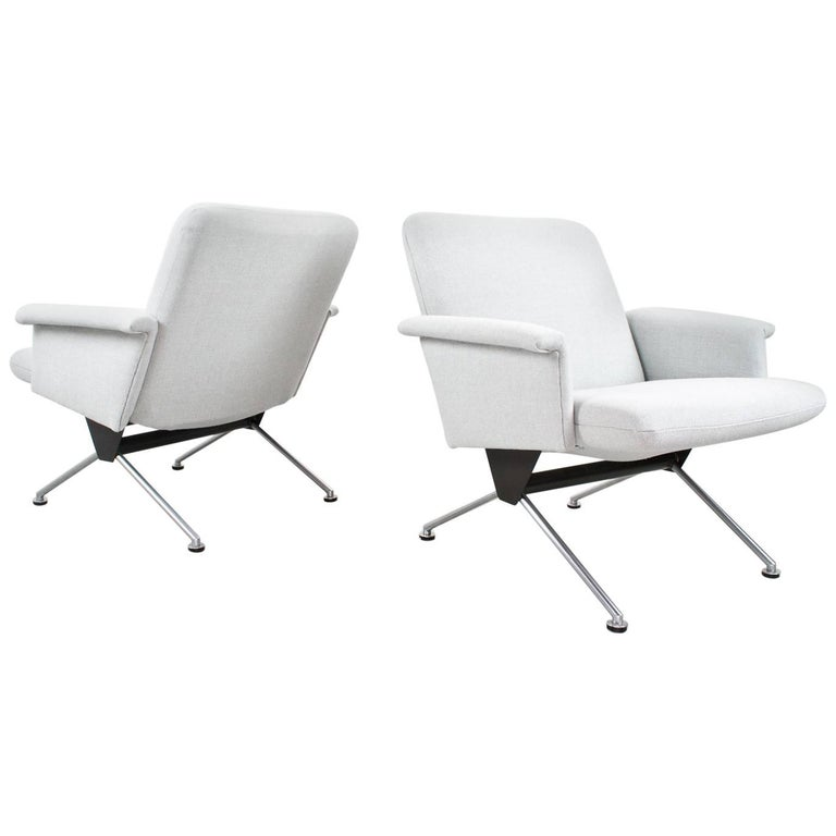 Lounge Conference Chairs Dutch Industrial Midcentury by Andre Cordemeyer, 1961