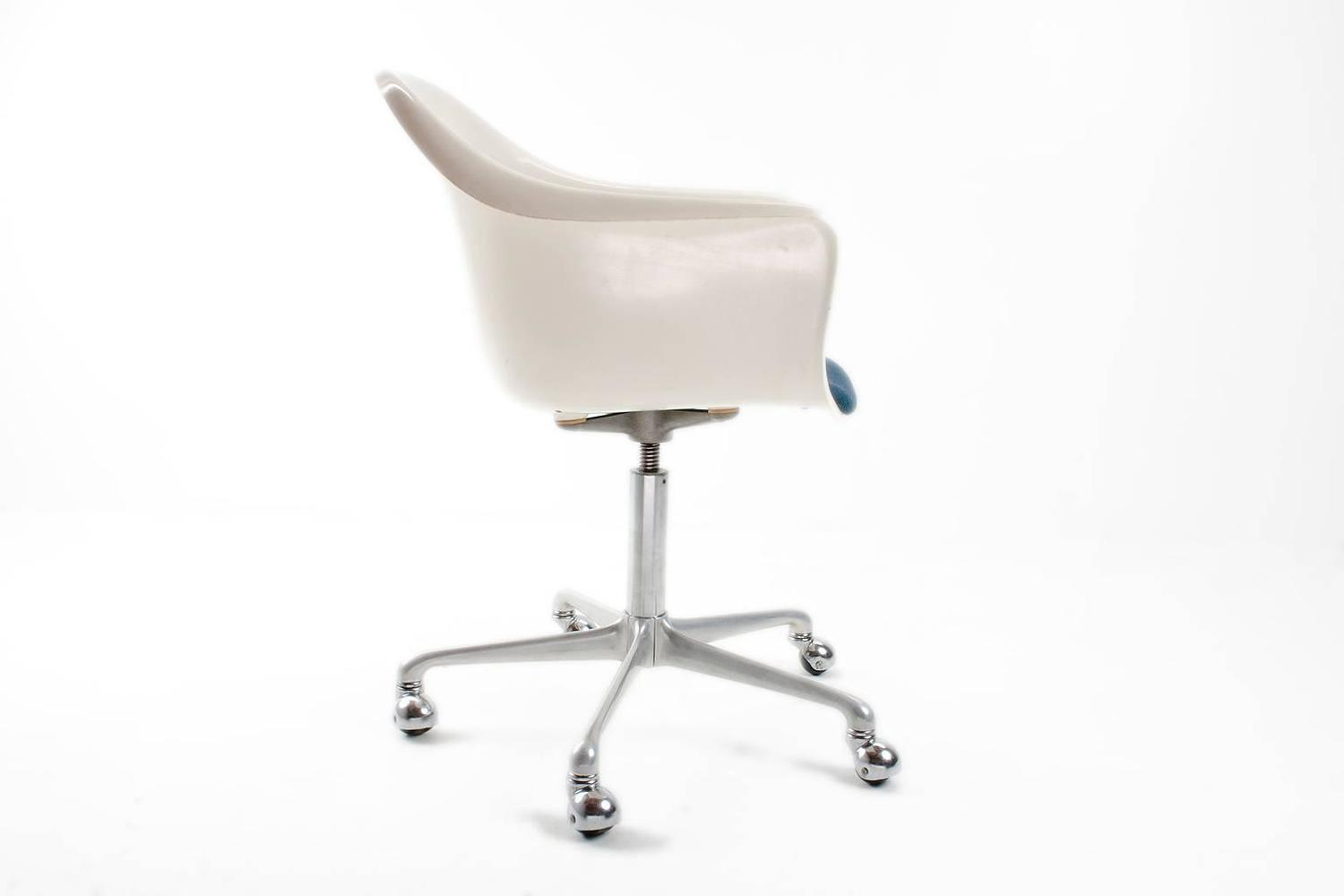 1960s rare german fiberglass swivel desk chair by k