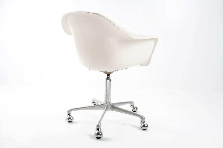 1960s rare german fiberglass swivel desk chair by k