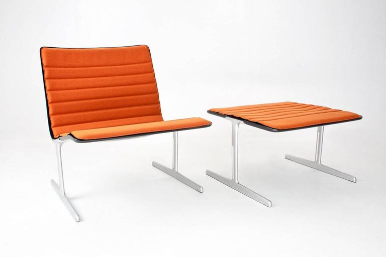1960s Rare German Dieter Rams 601 Easy Chair With Foot