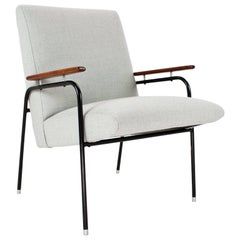 Easy Chair Mid-Century Modern French 1950s Armchair New Upholstered