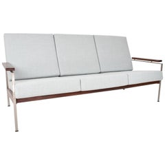 1950s, Dutch Mid-Century Modern Sofa by Rob Parry New Upholstered