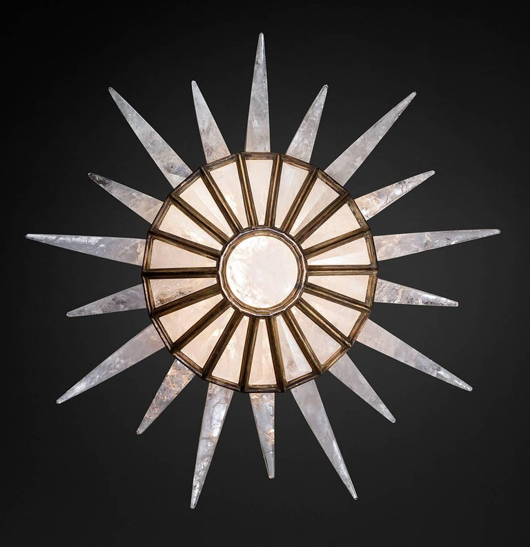 Contemporary Rock Crystal Dream Chandelier by Alexandre Vossion For Sale