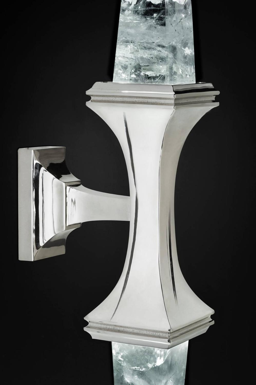 Rock Crystal Wall Sconces : Rock Crystal Wall Sconces by Alexandre Vossion For Sale at 1stdibs