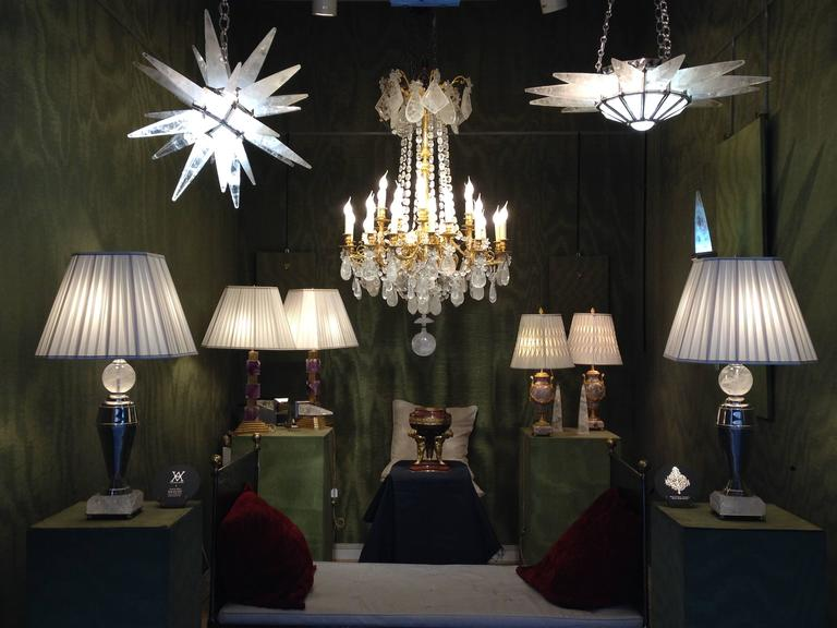 Contemporary Rock Crystal Star Chandelier by Alexandre Vossion For Sale