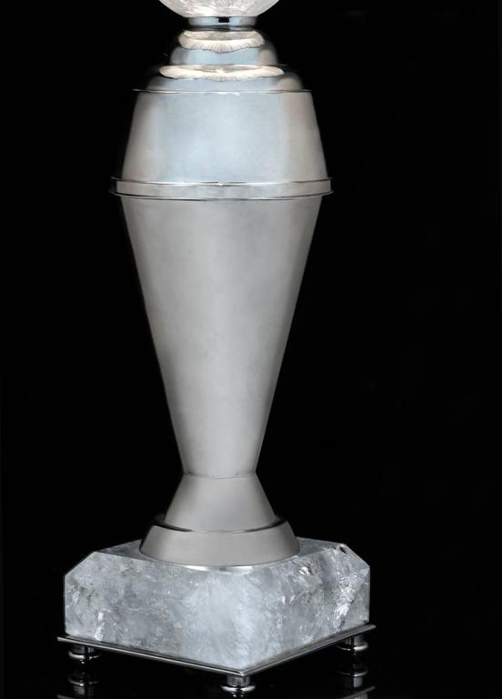 Rock Crystal Art Deco Pair of Lamps by Alexandre Vossion 5