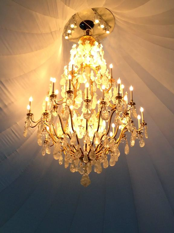 French Biggest Pair Of Rock Crystal Lightings in the World By Alexandre VOSSION For Sale